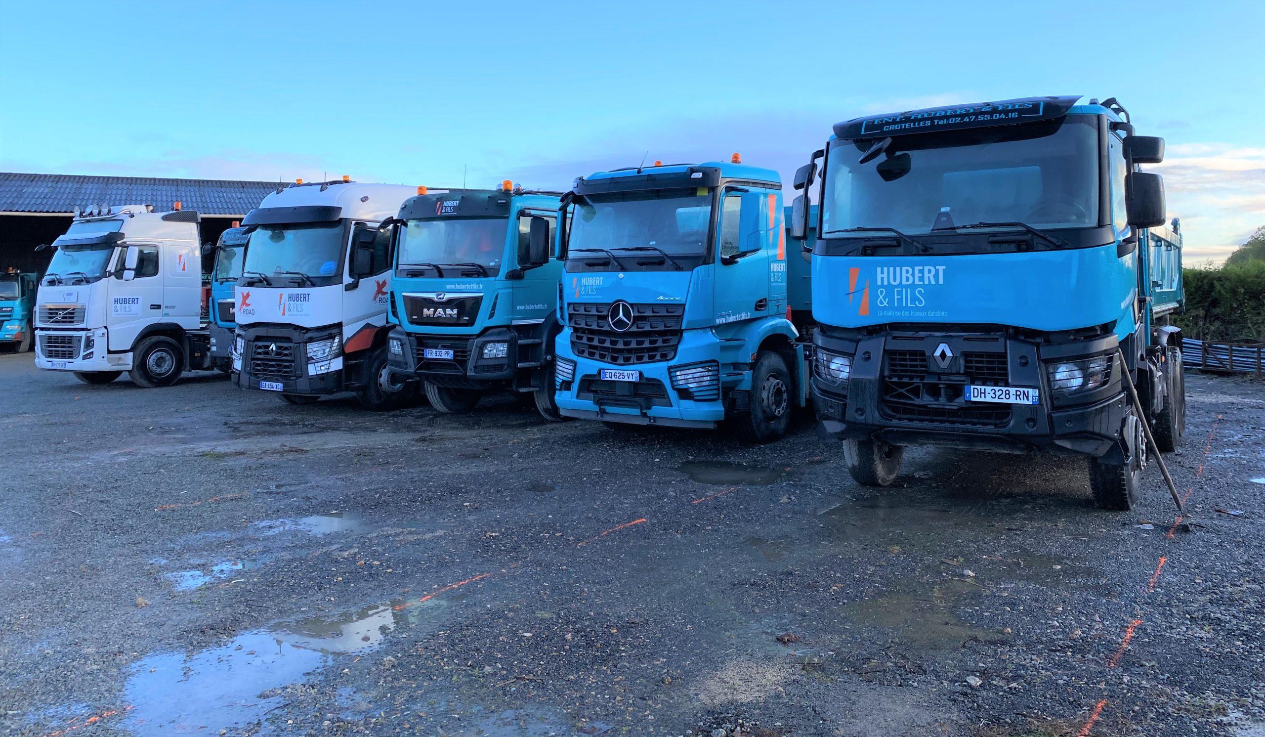 Photo des camions de l'entreprise